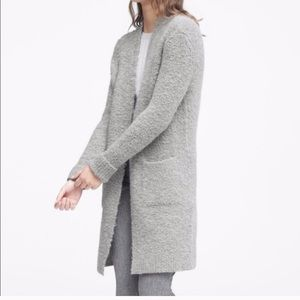Banana Republic Boucle Duster Cardigan wool blend